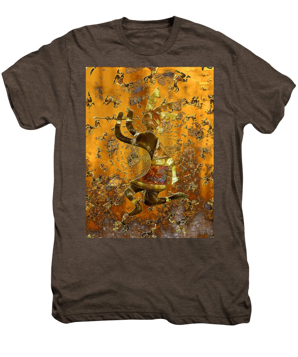 Kokopelli Men's Premium T-Shirt featuring the photograph Kokopelli by Kurt Van Wagner