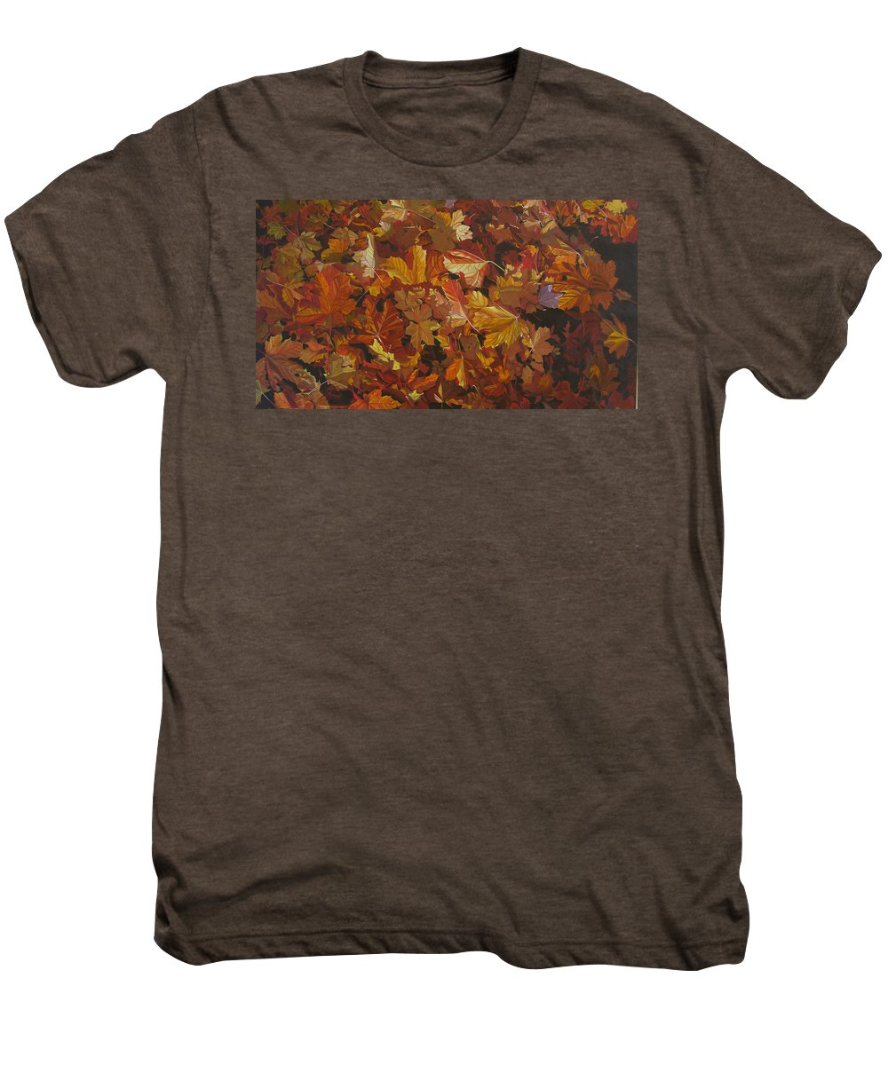 Fall Men's Premium T-Shirt featuring the painting Last Fall In Monroe by Thu Nguyen