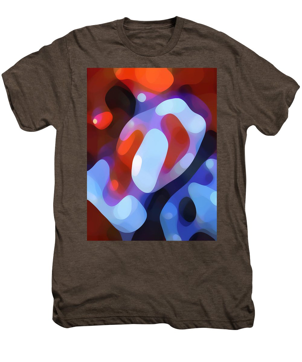 Abstract Men's Premium T-Shirt featuring the painting Light Through Fall Leaves by Amy Vangsgard