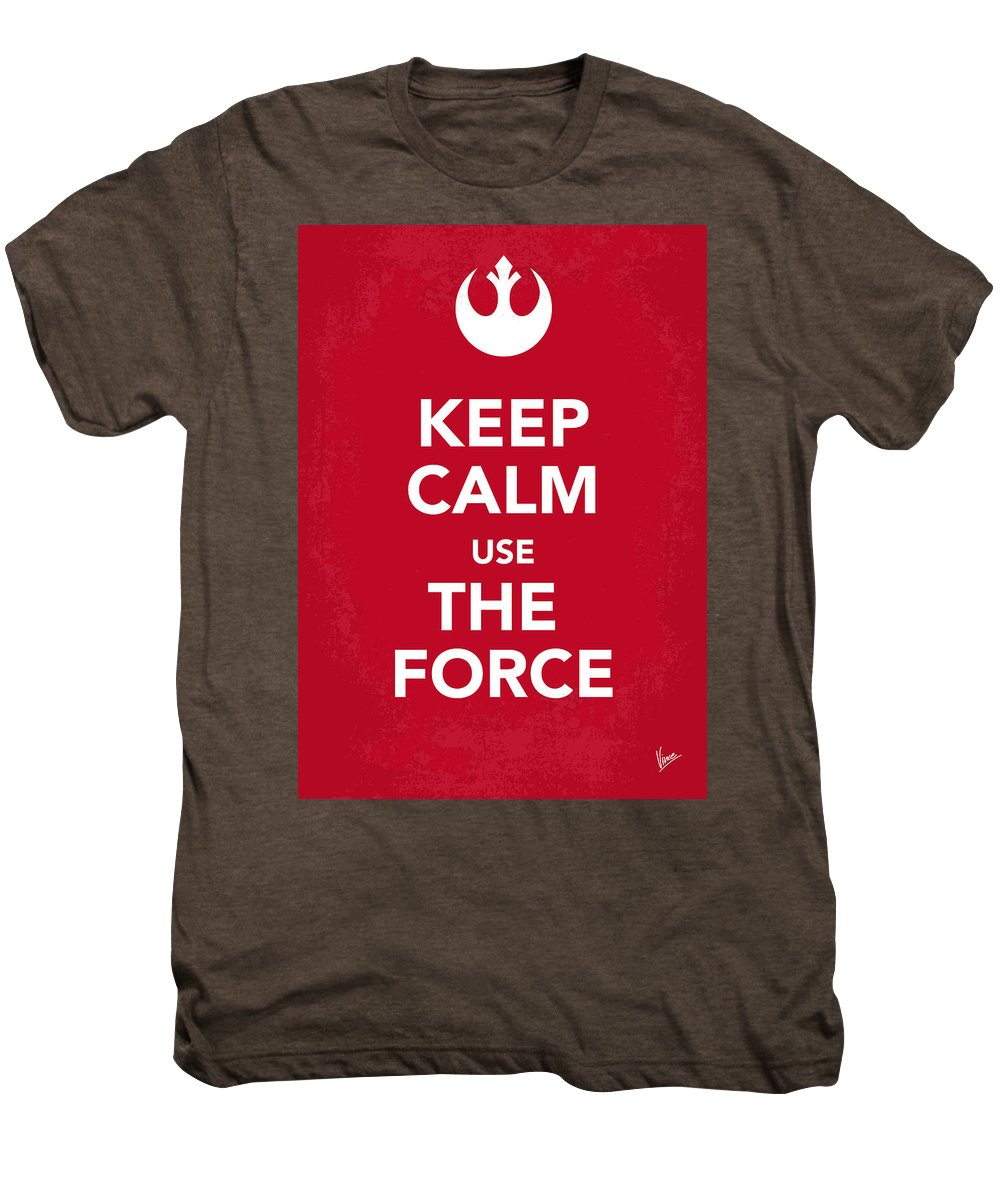 Star Men's Premium T-Shirt featuring the digital art My Keep Calm Star Wars - Rebel Alliance-poster by Chungkong Art