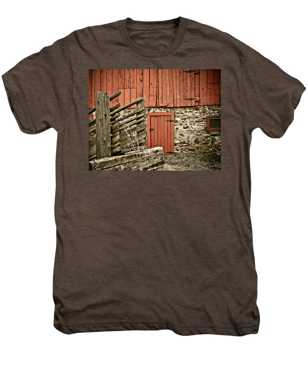 Old Men's Premium T-Shirt featuring the photograph Old Wood by Marilyn Hunt