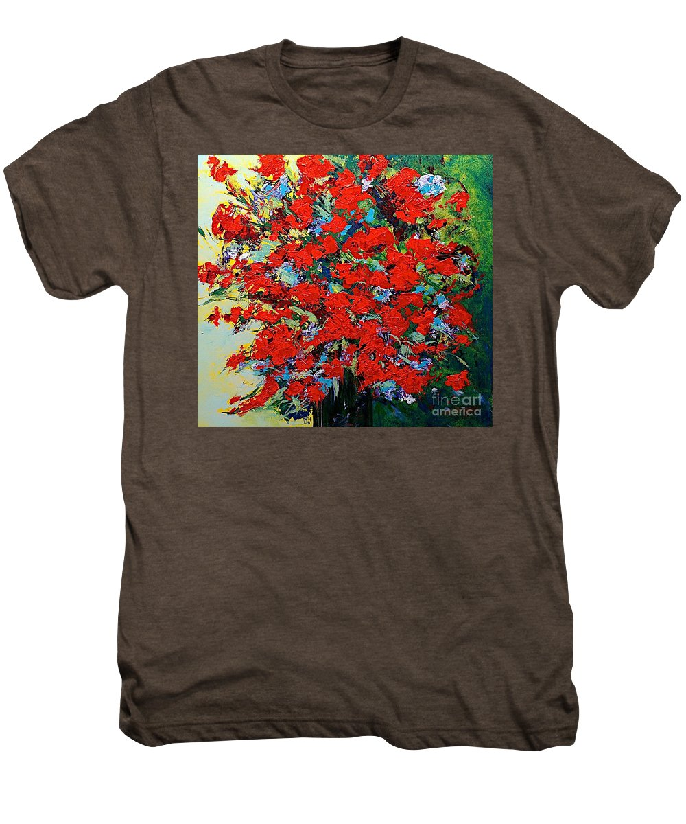 Landscape Men's Premium T-Shirt featuring the painting One Of A Kind by Allan P Friedlander