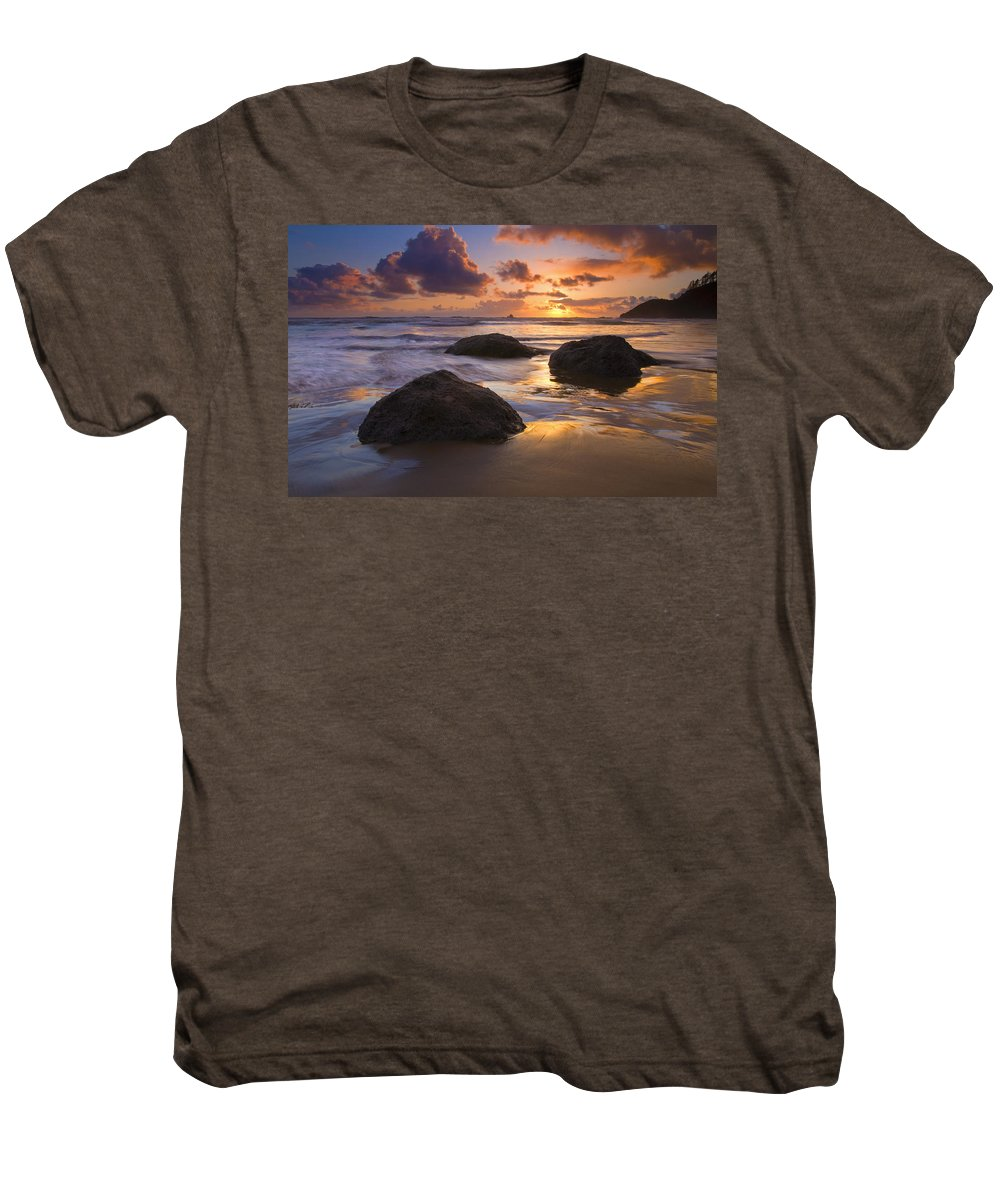 Sunset Men's Premium T-Shirt featuring the photograph Pieces Of Eight by Mike Dawson