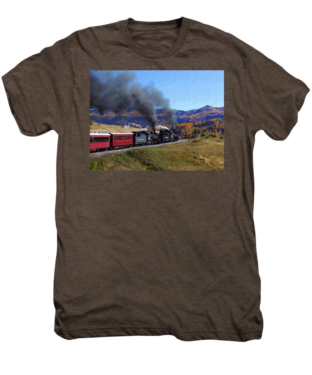 Railroad Men's Premium T-Shirt featuring the photograph Rio Grande 488 And 489 by Kurt Van Wagner