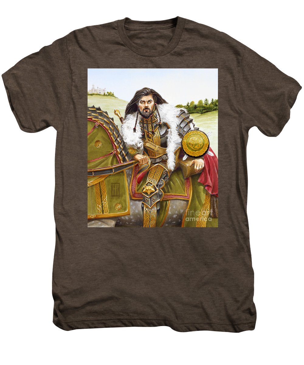 Fine Art Men's Premium T-Shirt featuring the painting Sir Marhaus by Melissa A Benson