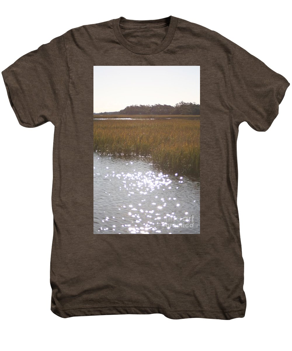 Marsh Men's Premium T-Shirt featuring the photograph Sparkling Marsh by Nadine Rippelmeyer