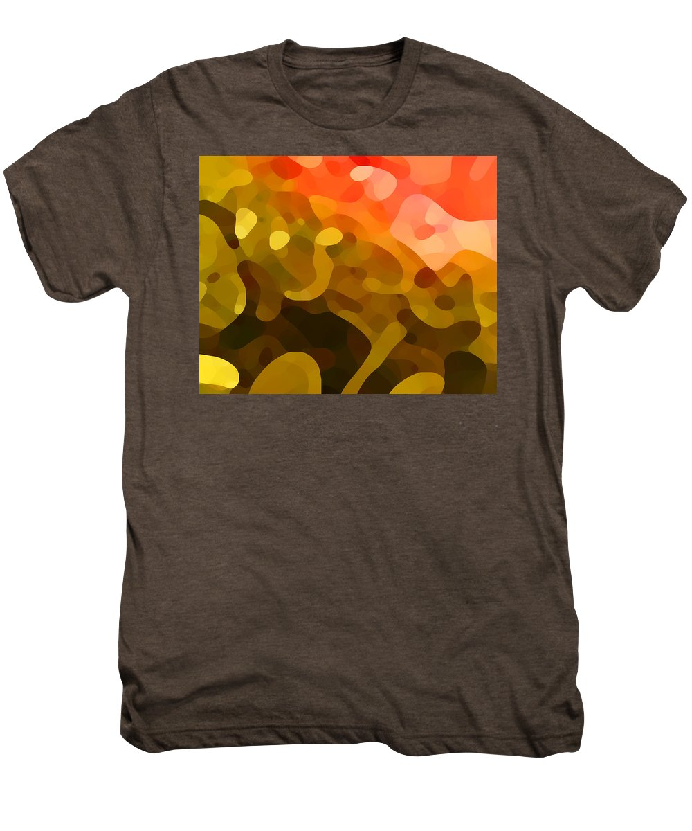 Abstract Men's Premium T-Shirt featuring the painting Spring Day by Amy Vangsgard