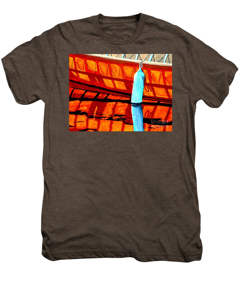 Canoe Men's Premium T-Shirt featuring the painting The Blue Fender by Anthony Dunphy