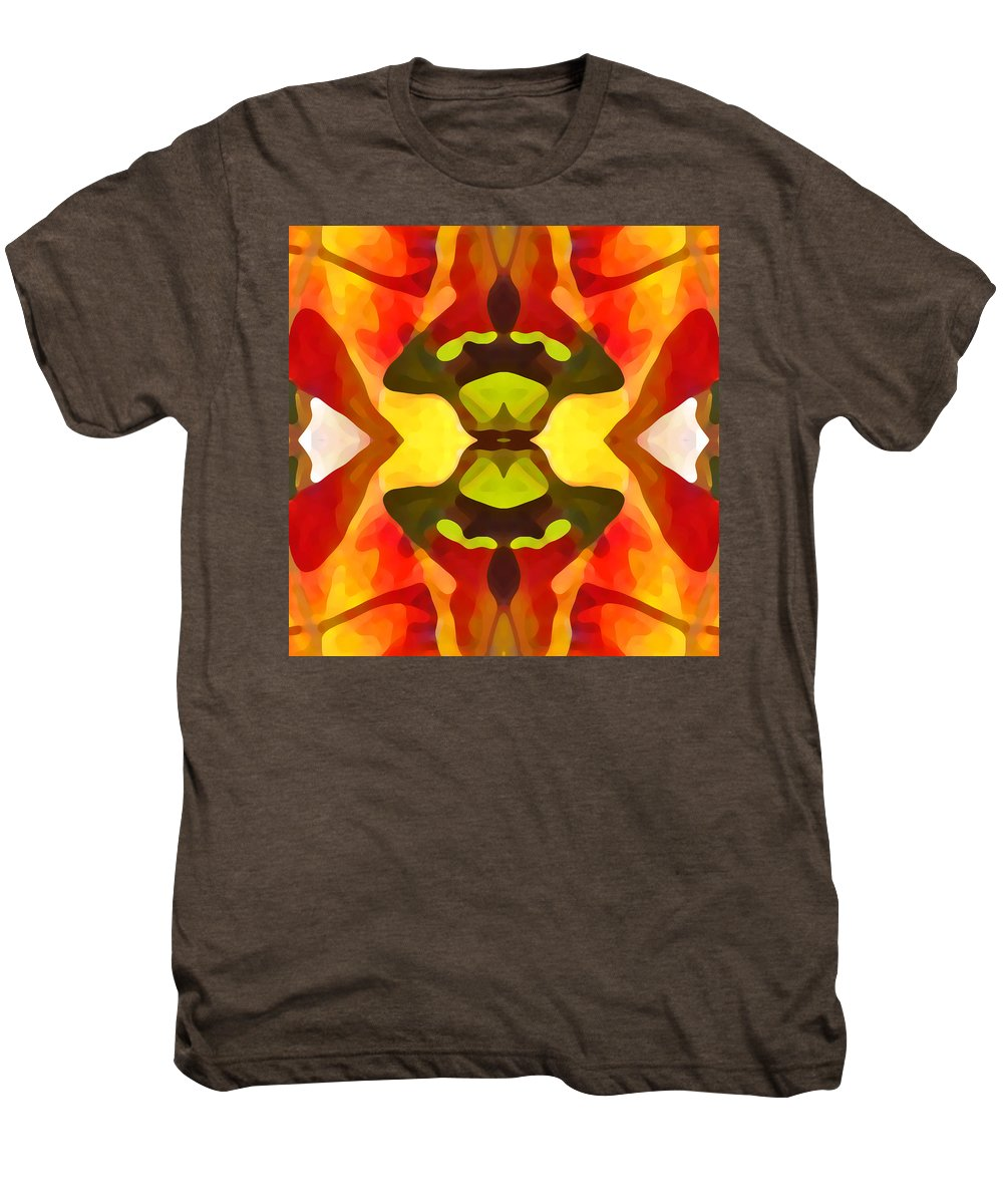 Abstract Men's Premium T-Shirt featuring the painting Tropical Leaf Pattern 1 by Amy Vangsgard