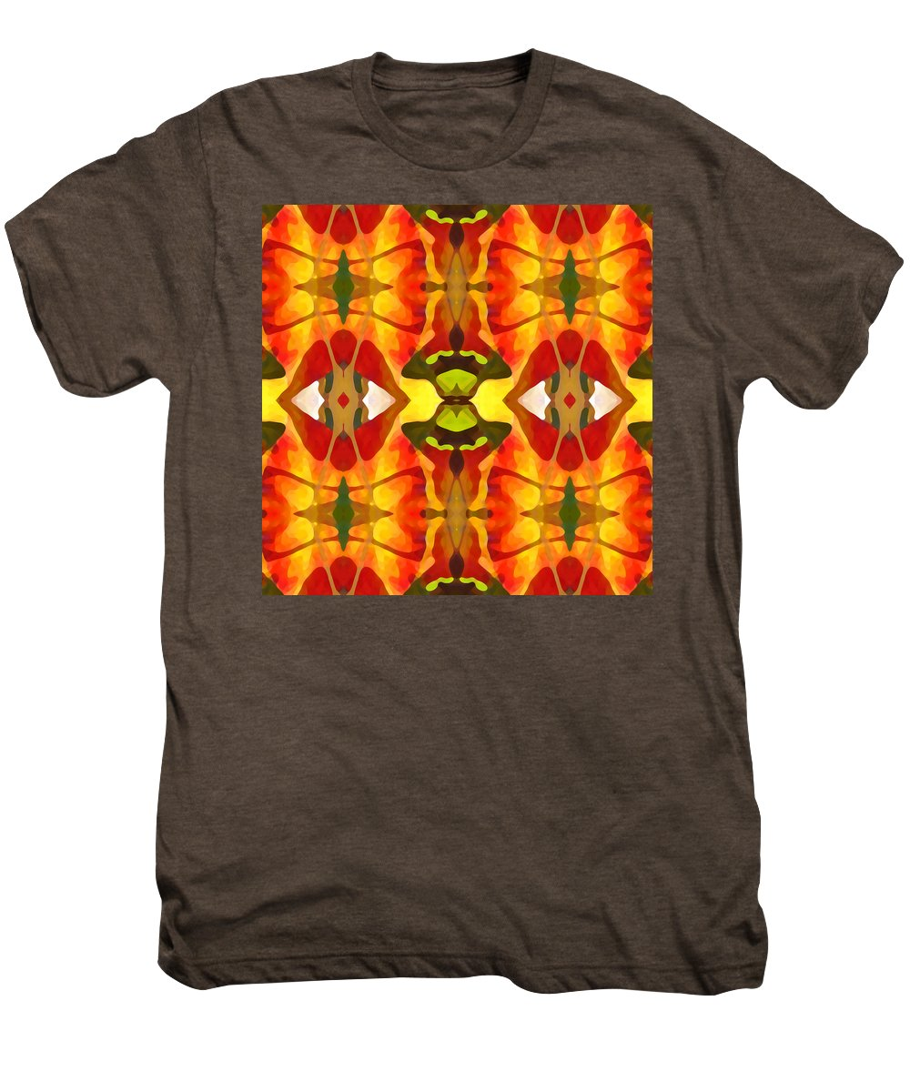 Abstract Men's Premium T-Shirt featuring the painting Tropical Leaf Pattern 4 by Amy Vangsgard