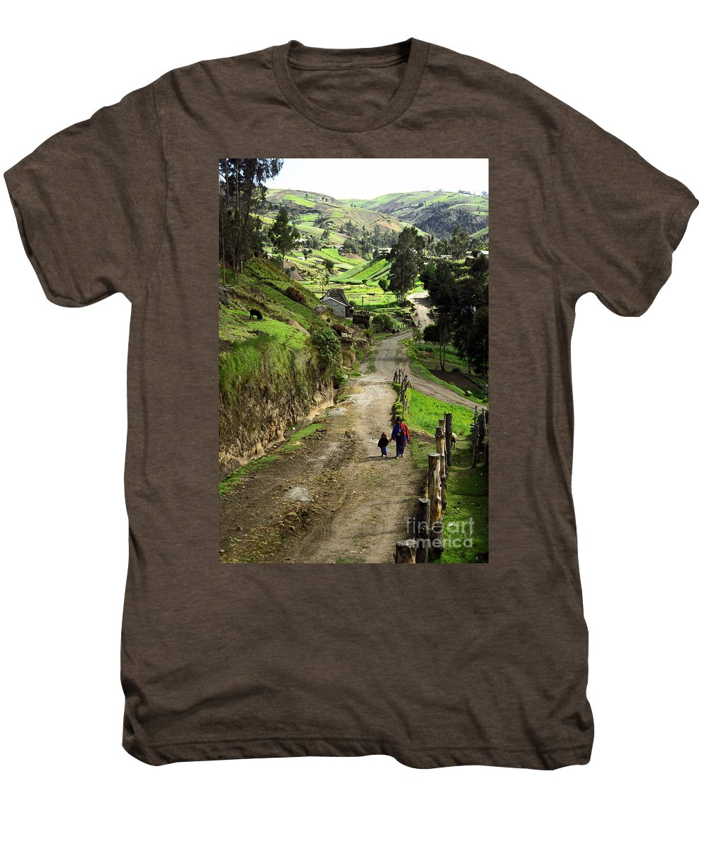 Ecuador Men's Premium T-Shirt featuring the photograph View Of Lupaxi by Kathy McClure