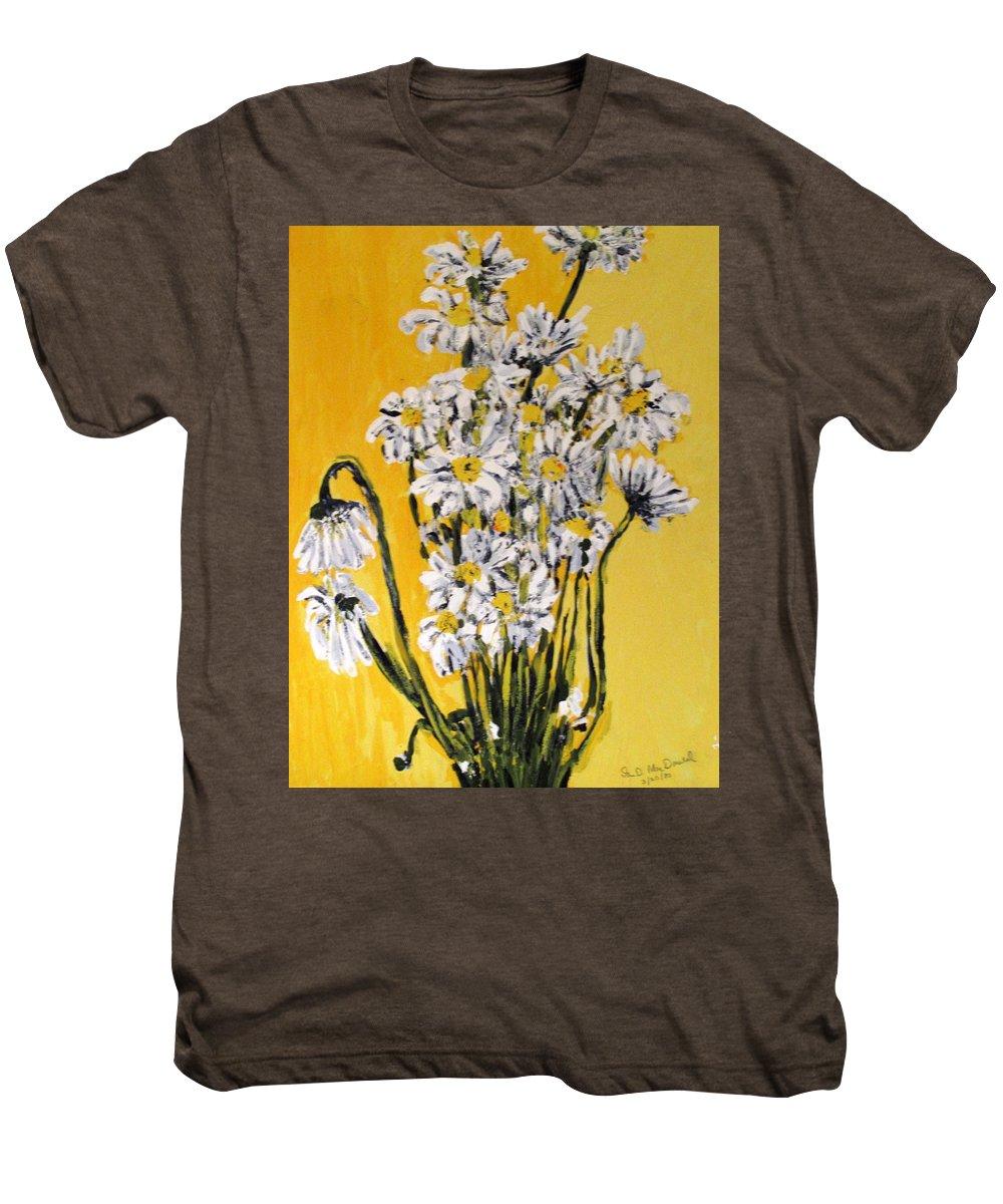 Daisy Men's Premium T-Shirt featuring the painting Yellow by Ian MacDonald