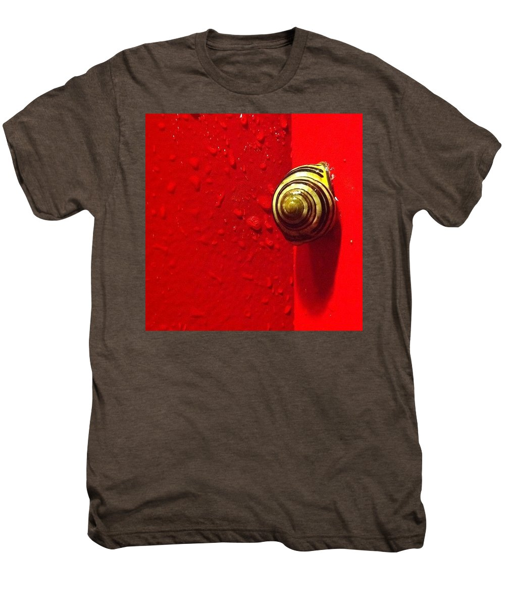 Nofilter Men's Premium T-Shirt featuring the photograph Never A Shortage Of #snails Back Here by Katie Cupcakes