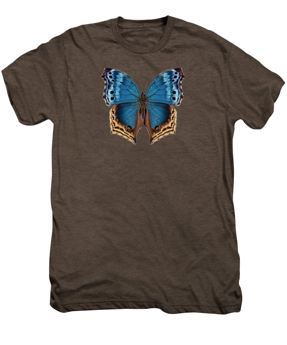 Mother-of-pearls Men's Premium T-Shirt featuring the painting Butterfly Species Salamis Temora by Pablo Romero