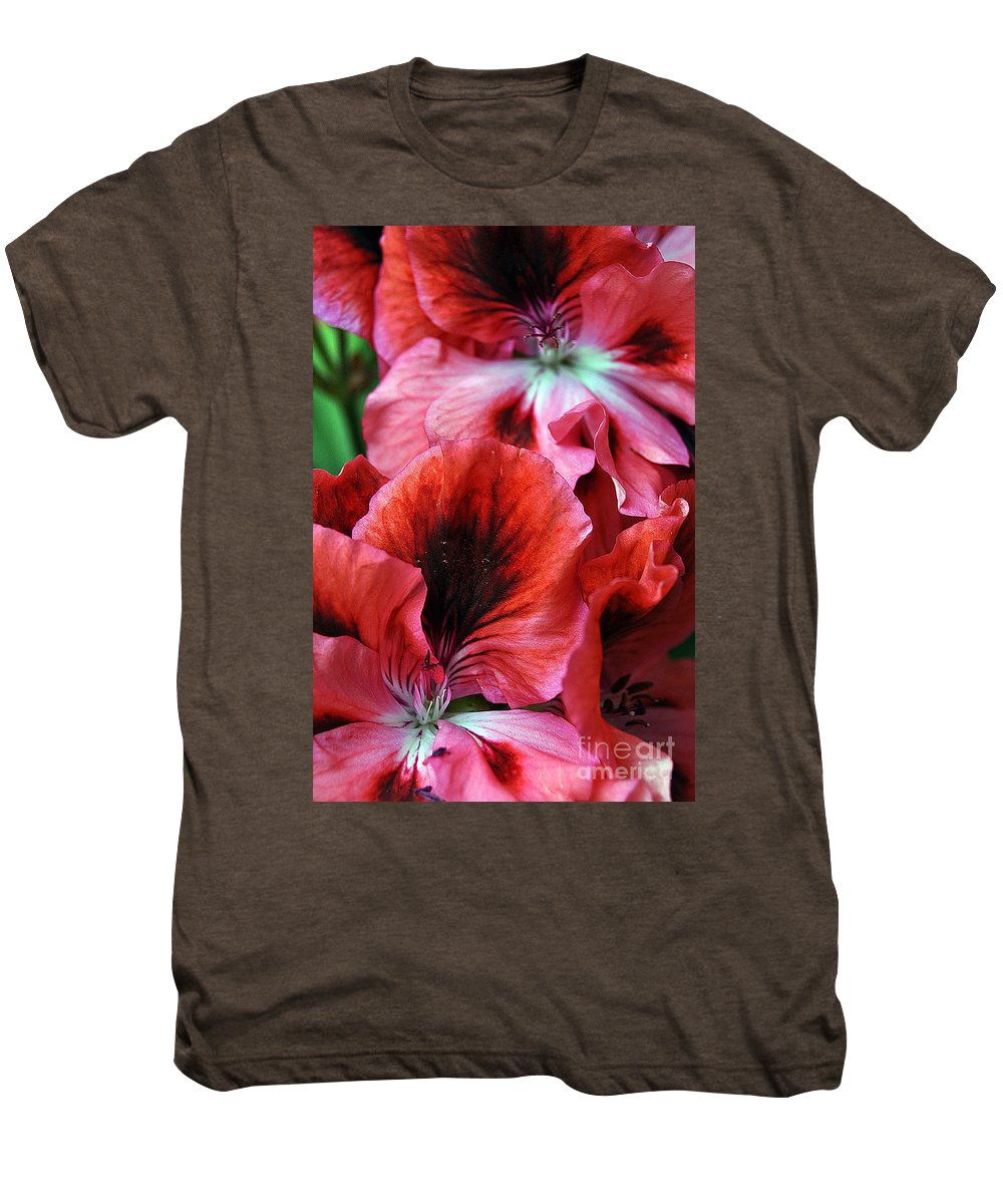 Clay Men's Premium T-Shirt featuring the photograph Red Floral by Clayton Bruster