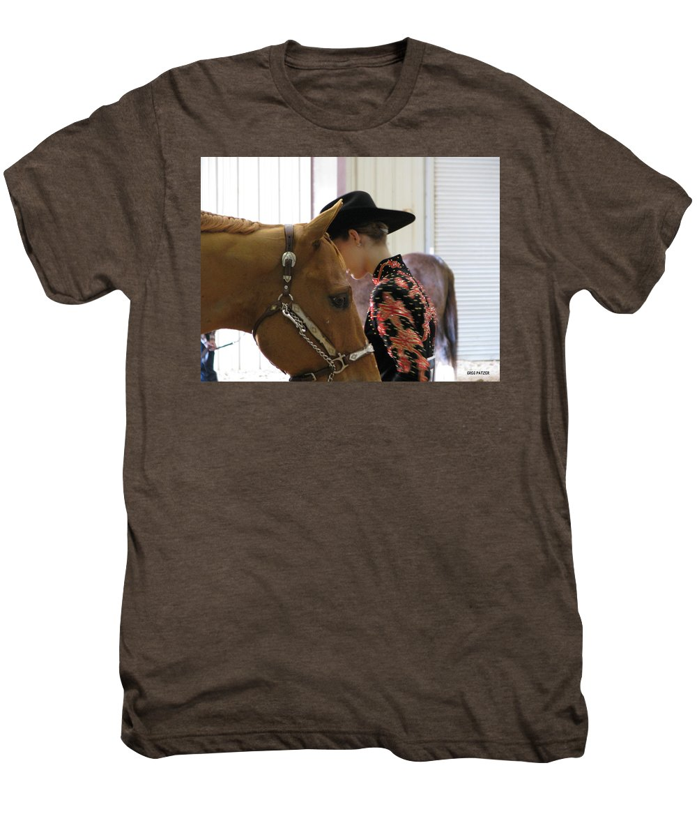 Patzer Men's Premium T-Shirt featuring the photograph You Pray I Pray by Greg Patzer