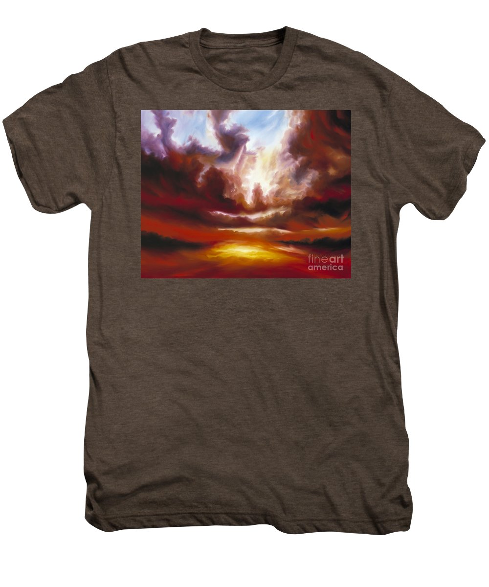 Tempest Men's Premium T-Shirt featuring the painting A Cosmic Storm - Genesis V by James Christopher Hill