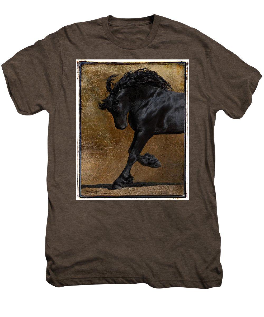 Horse Men's Premium T-Shirt featuring the photograph A Regal Bow by Jean Hildebrant