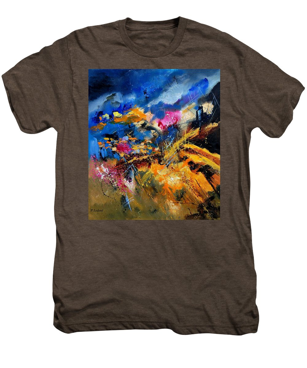 Abstract Men's Premium T-Shirt featuring the painting Abstract 7808082 by Pol Ledent