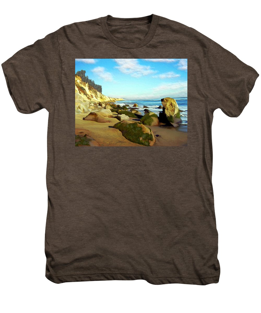 Ocean Men's Premium T-Shirt featuring the photograph After The Fog Gaviota by Kurt Van Wagner