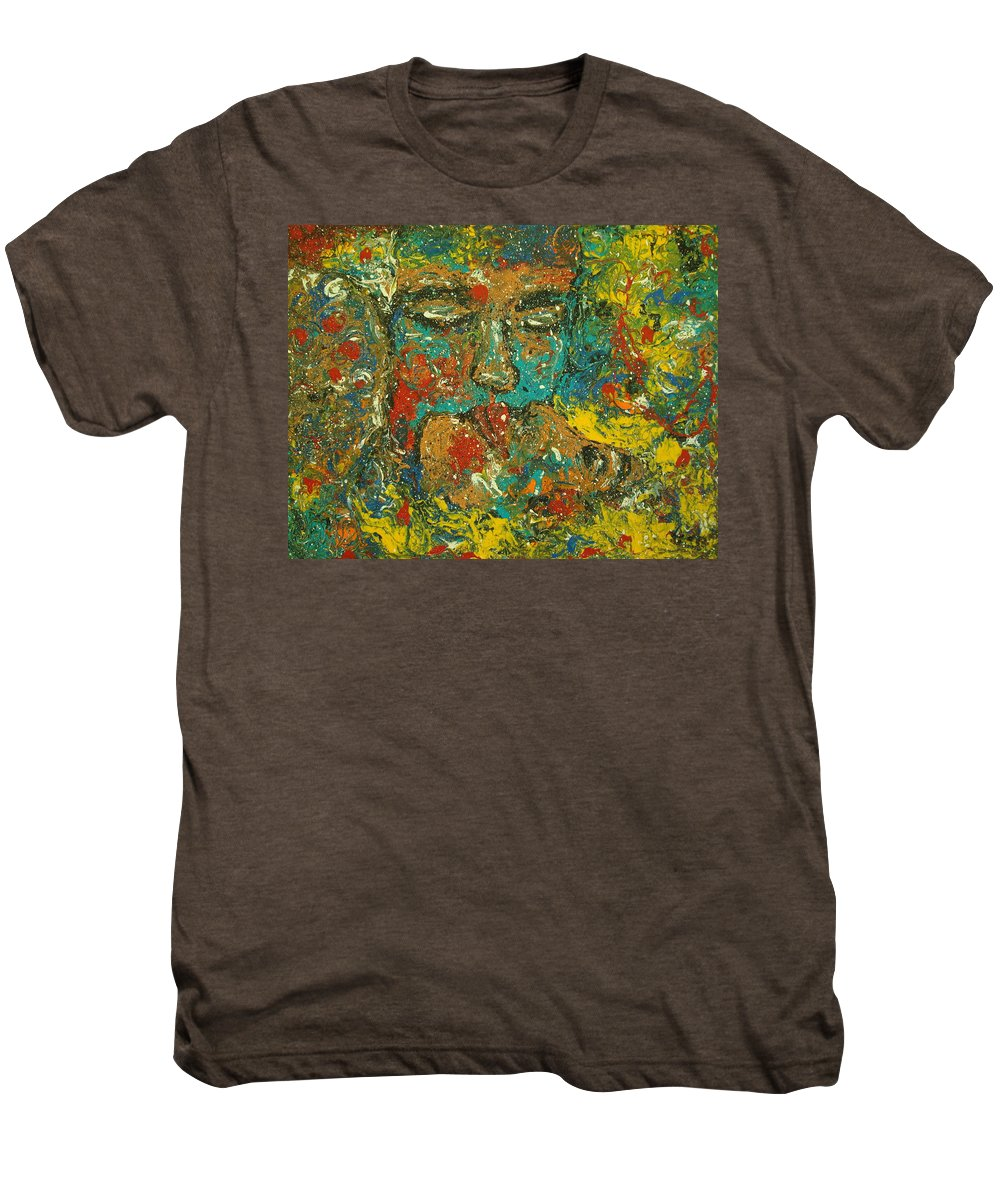 Romantic Men's Premium T-Shirt featuring the painting Allure Of Love by Natalie Holland