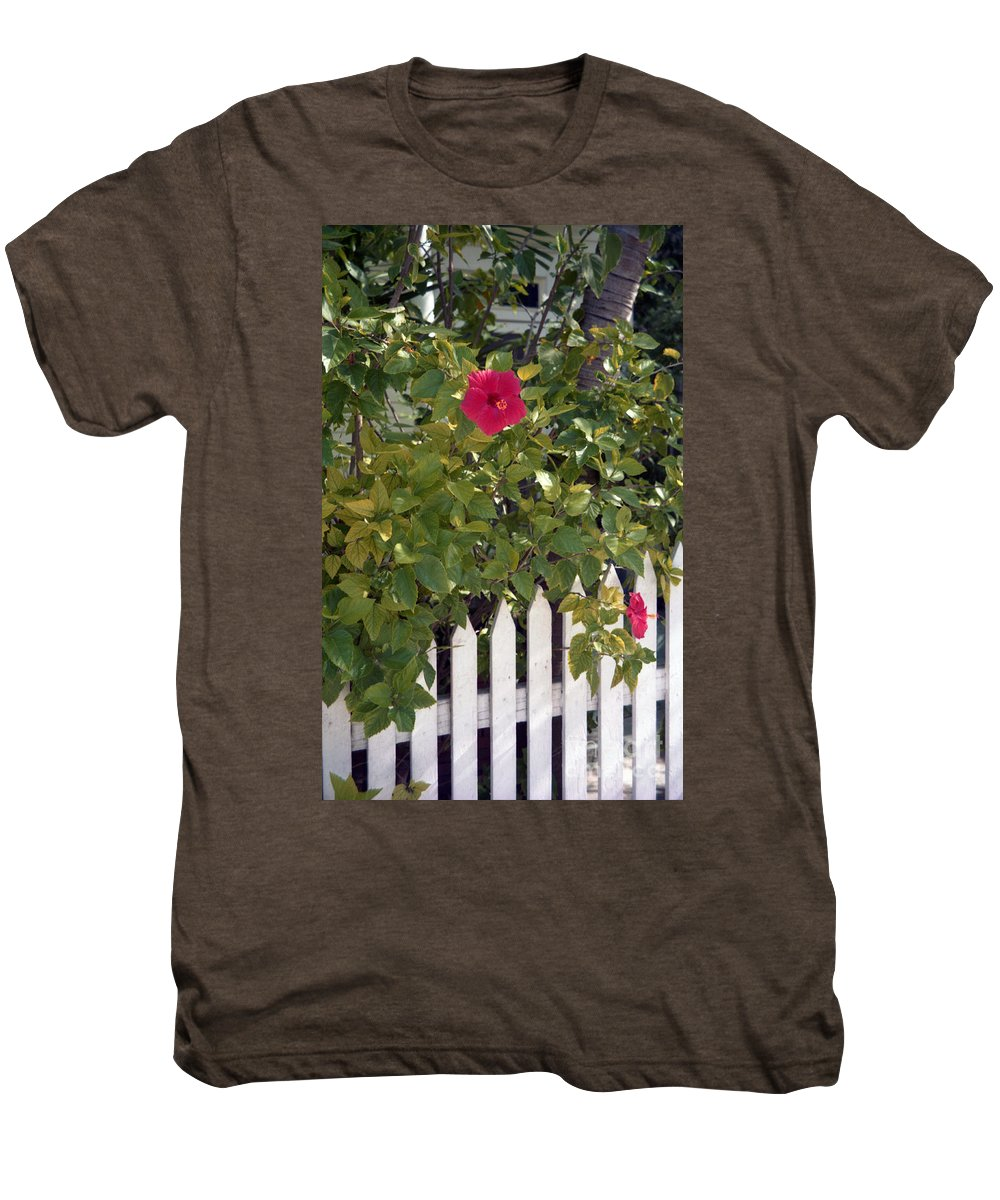 Azelea Men's Premium T-Shirt featuring the photograph Along The Picket Fence by Richard Rizzo