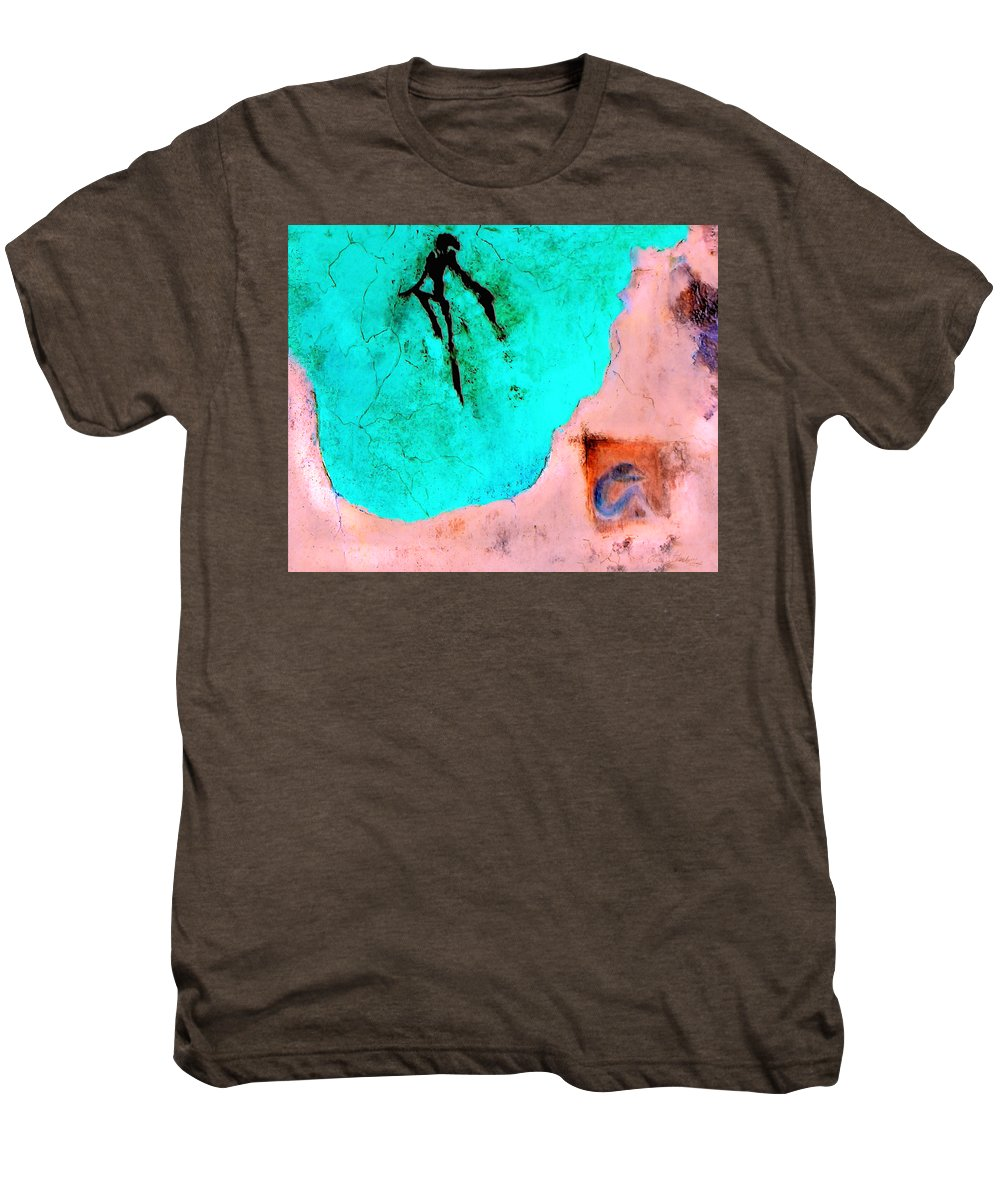 Spirit Afterlife Innerself Soul Fly Men's Premium T-Shirt featuring the painting And The Spirit Moved by Veronica Jackson
