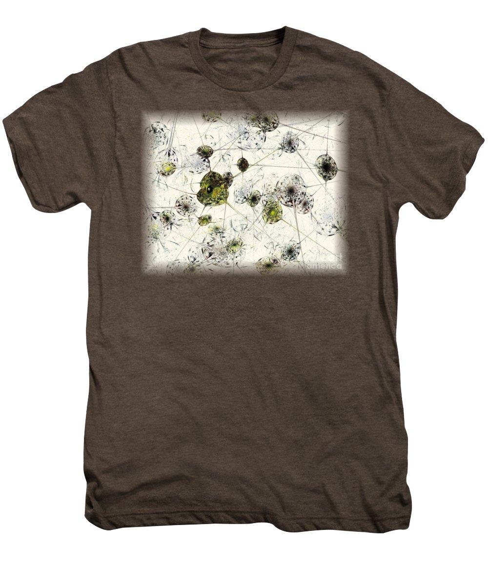 Malakhova Men's Premium T-Shirt featuring the digital art Neural Network by Anastasiya Malakhova