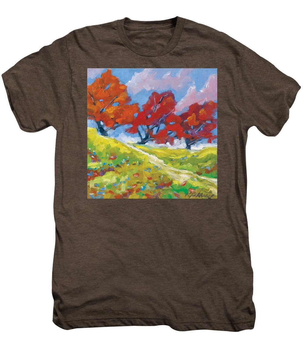 Art Men's Premium T-Shirt featuring the painting Automn Trees by Richard T Pranke