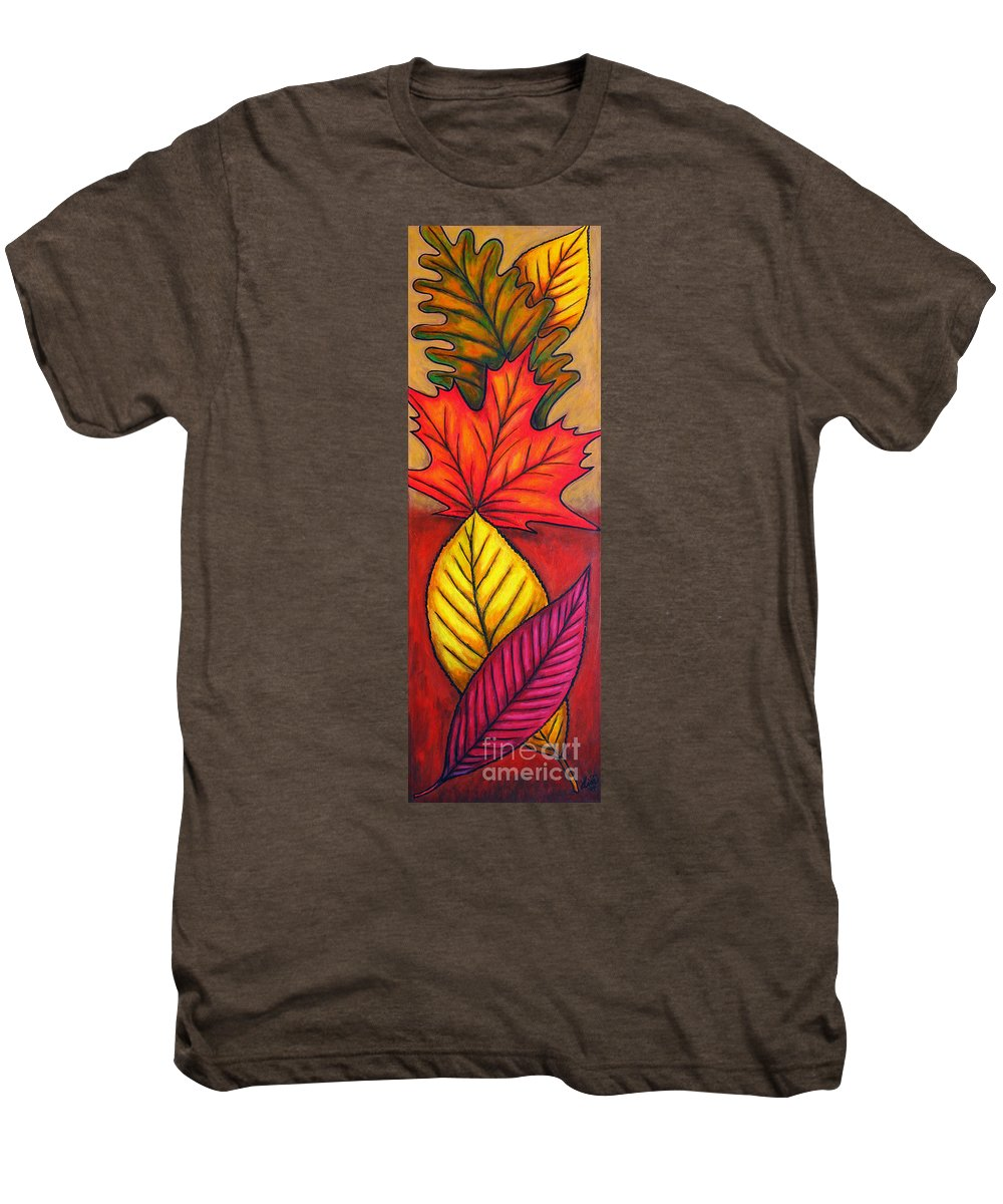 Autumn Men's Premium T-Shirt featuring the painting Autumn Glow by Lisa Lorenz