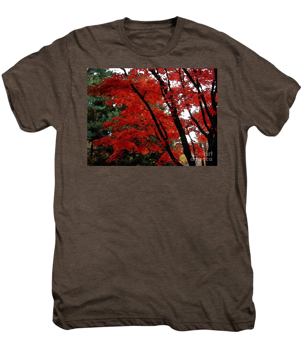 Autumn Men's Premium T-Shirt featuring the photograph Autumn In New England by Melissa A Benson