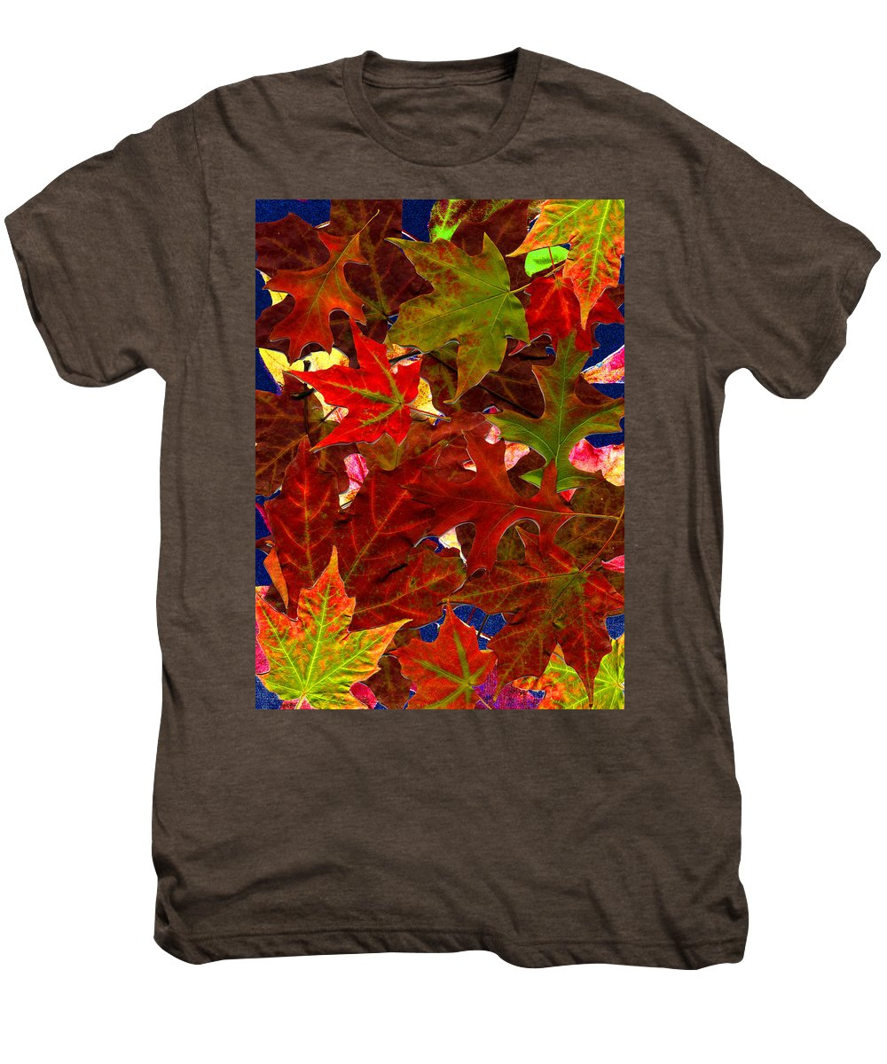Collage Men's Premium T-Shirt featuring the photograph Autumn Leaves by Nancy Mueller
