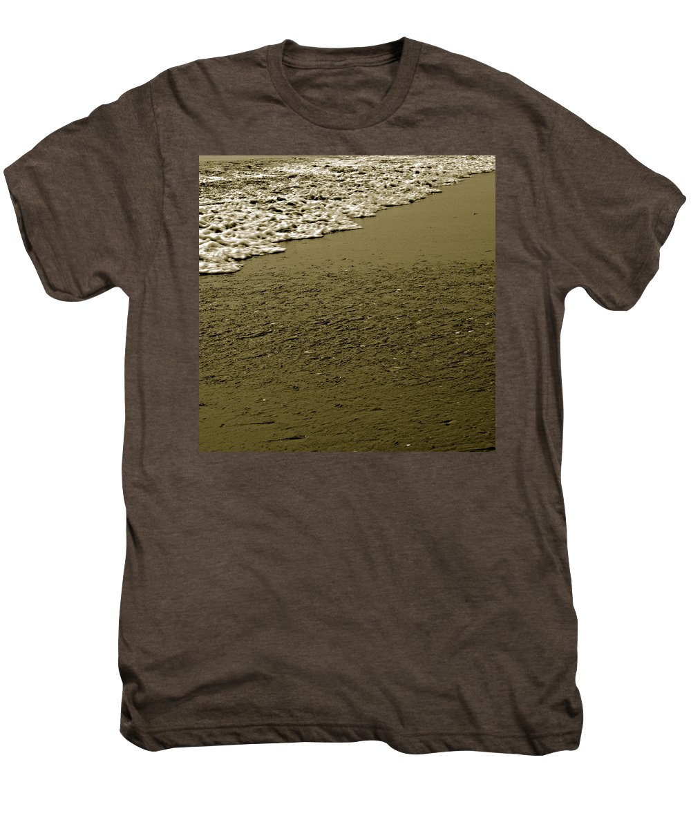 Water Men's Premium T-Shirt featuring the photograph Beach Texture by Jean Macaluso