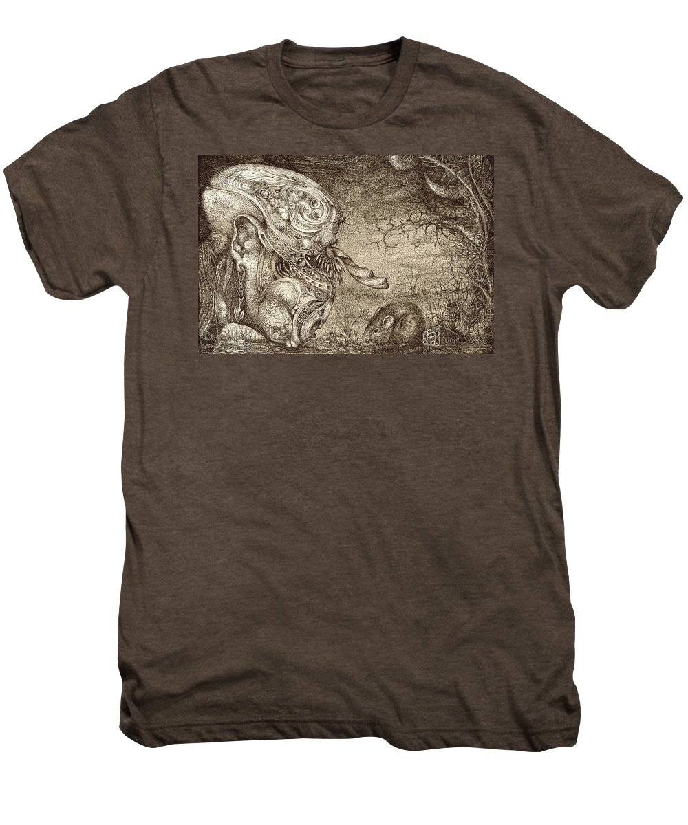 Surreal Men's Premium T-Shirt featuring the drawing Bogomils Mousetrap by Otto Rapp