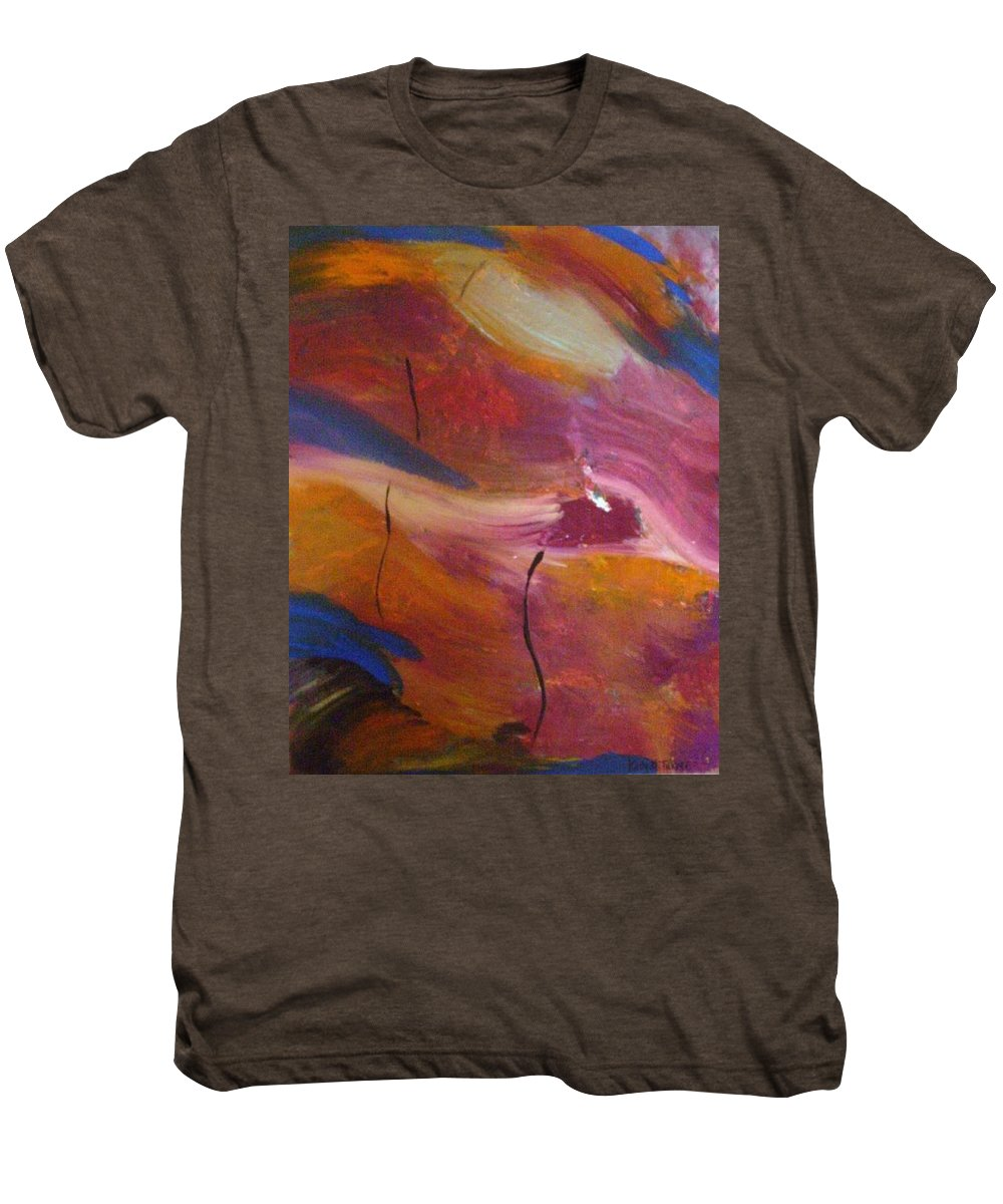 Abstract Art Men's Premium T-Shirt featuring the painting Broken Heart by Kelly Turner