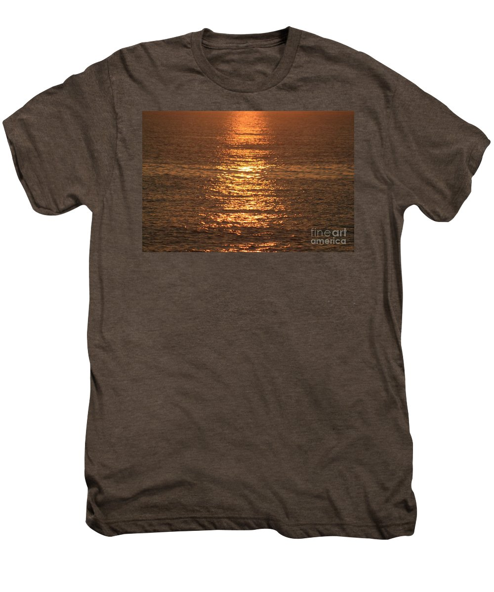 Ocean Men's Premium T-Shirt featuring the photograph Bronze Reflections by Nadine Rippelmeyer