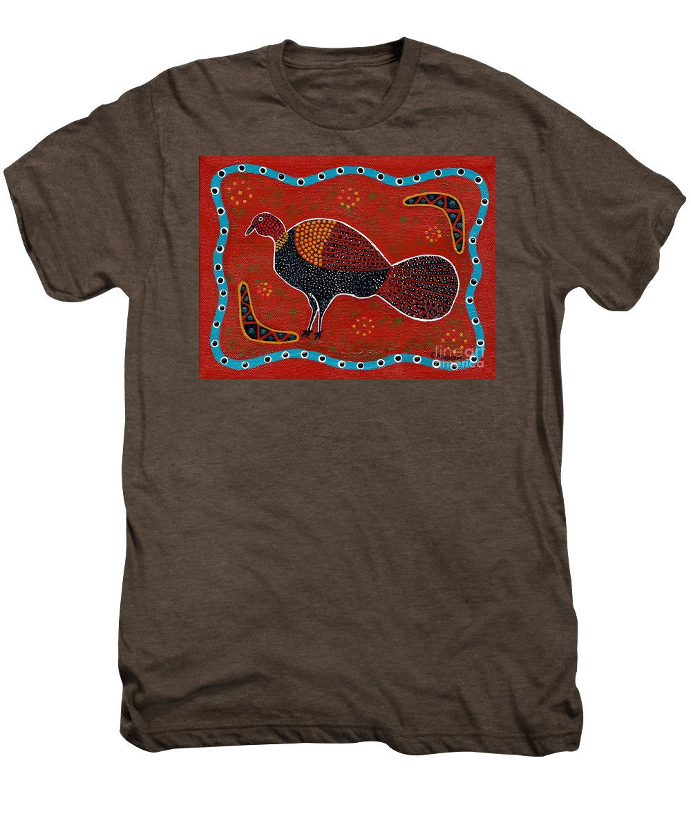 Brushturkey Men's Premium T-Shirt featuring the painting Brush Turkey by Clifford Madsen