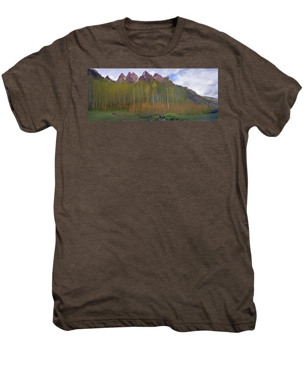 Mountain Men's Premium T-Shirt featuring the photograph Buckskin Mtn And Friends by Heather Coen