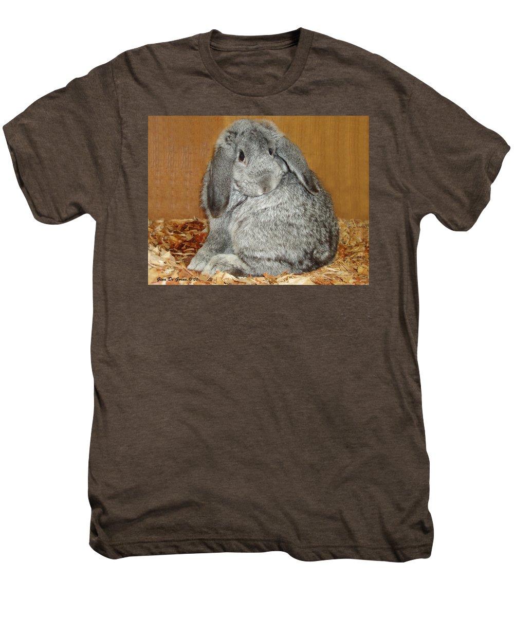 Bunny Men's Premium T-Shirt featuring the photograph Bunny by Gina De Gorna
