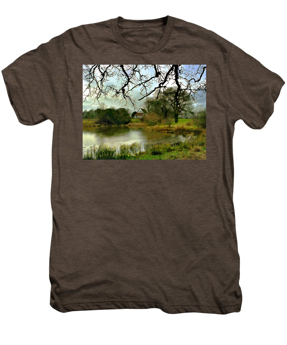 England Men's Premium T-Shirt featuring the photograph Butlers Retreat Epping Forest Uk by Kurt Van Wagner