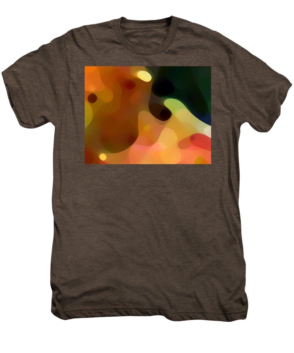 Bold Men's Premium T-Shirt featuring the painting Cactus Fruit by Amy Vangsgard