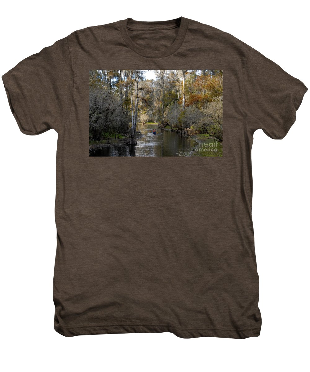 Family Men's Premium T-Shirt featuring the photograph Canoeing In Florida by David Lee Thompson