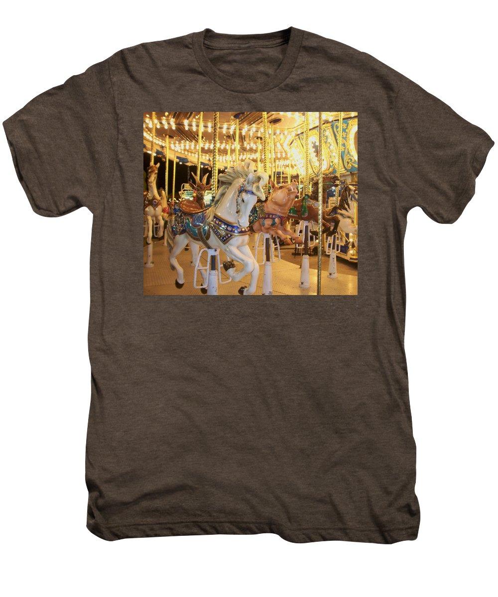 Carosel Horse Men's Premium T-Shirt featuring the photograph Carousel Horse 2 by Anita Burgermeister