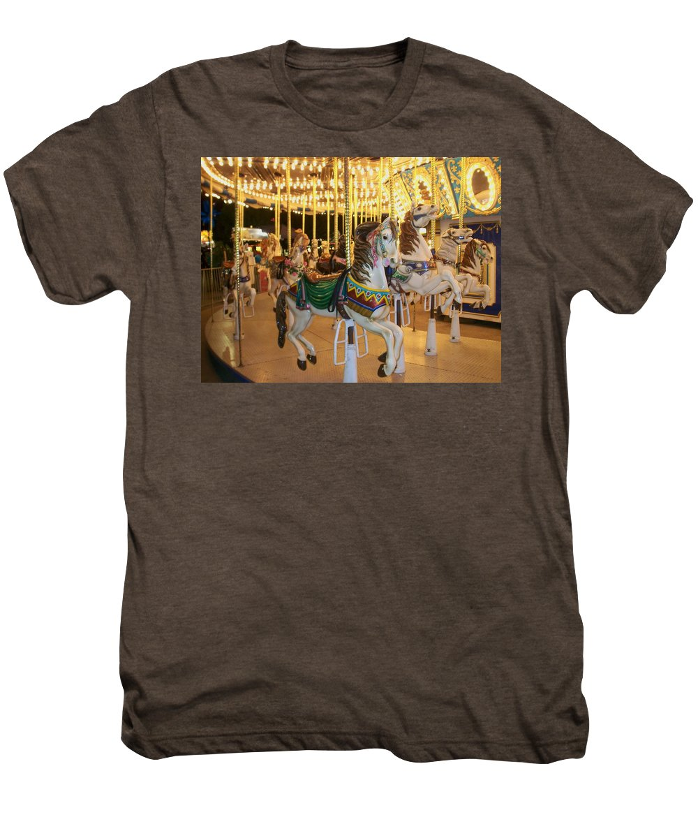 Carousel Horse Men's Premium T-Shirt featuring the photograph Carousel Horse 4 by Anita Burgermeister