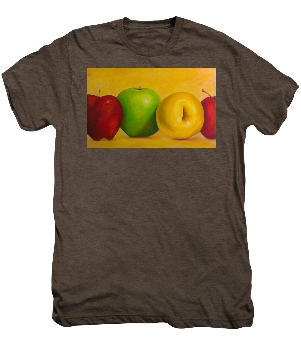 Still Life Men's Premium T-Shirt featuring the painting Chorus Line by Shannon Grissom