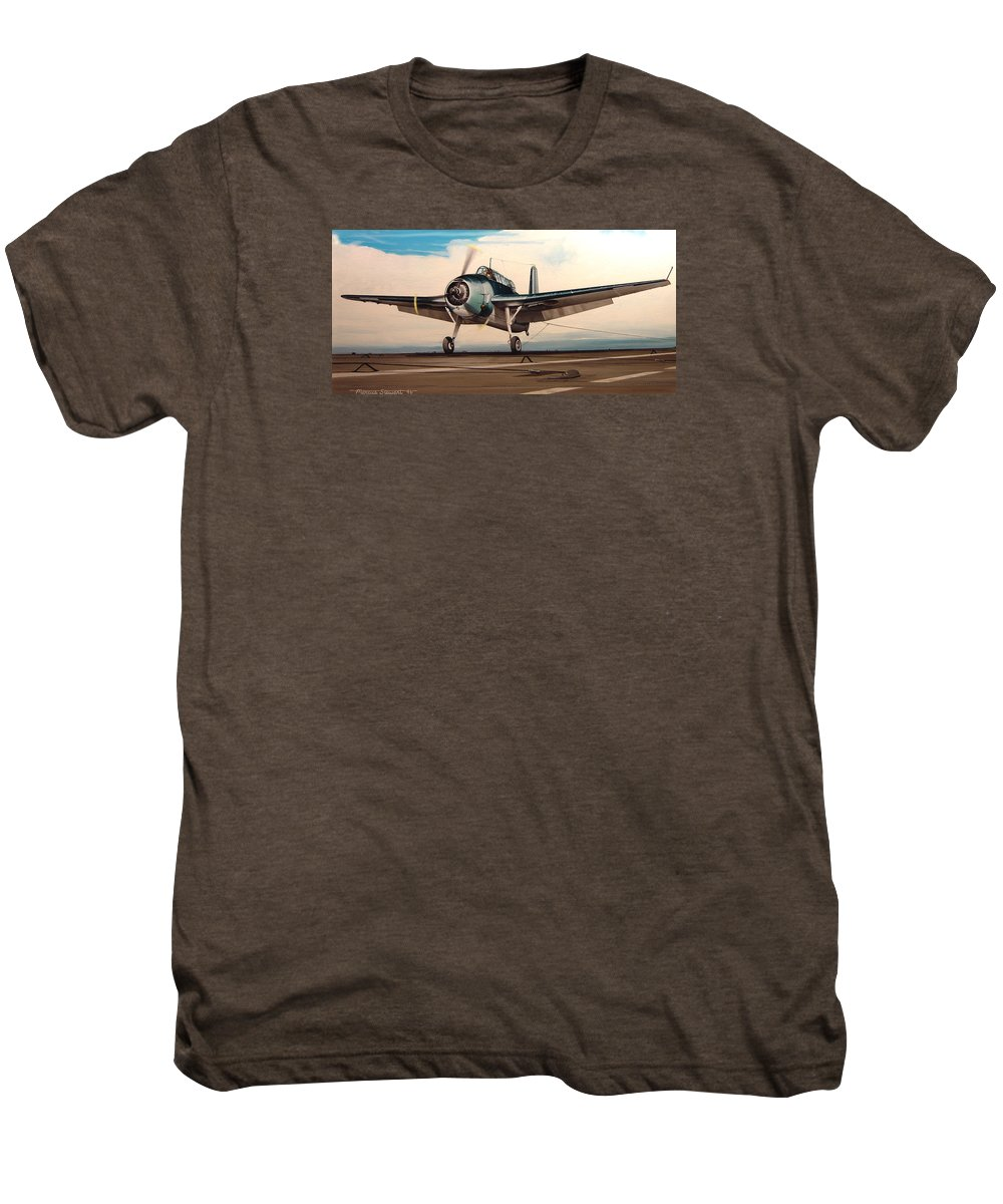 Painting Men's Premium T-Shirt featuring the painting Coming Aboard by Marc Stewart