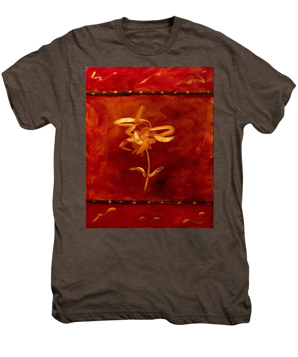 Abstract Men's Premium T-Shirt featuring the painting Confidence by Shannon Grissom