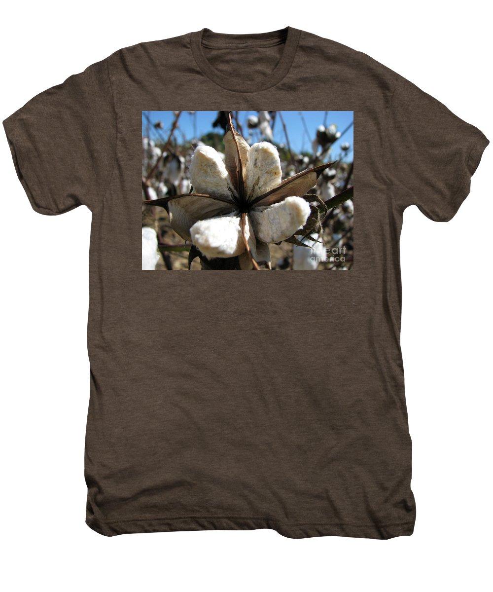Cotton Men's Premium T-Shirt featuring the photograph Cotton by Amanda Barcon