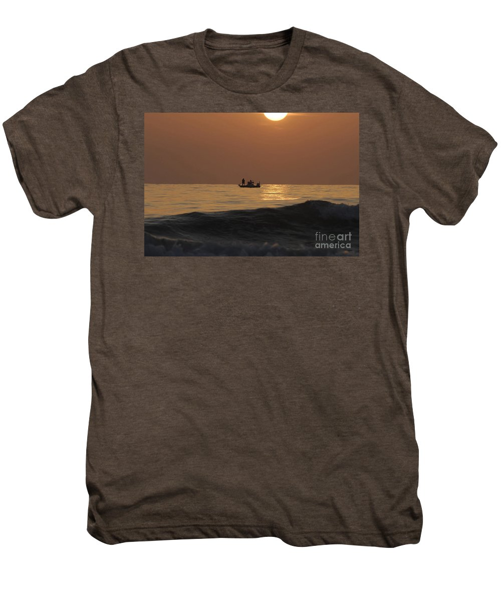 Sunset Men's Premium T-Shirt featuring the photograph Couples At Sunset by David Lee Thompson