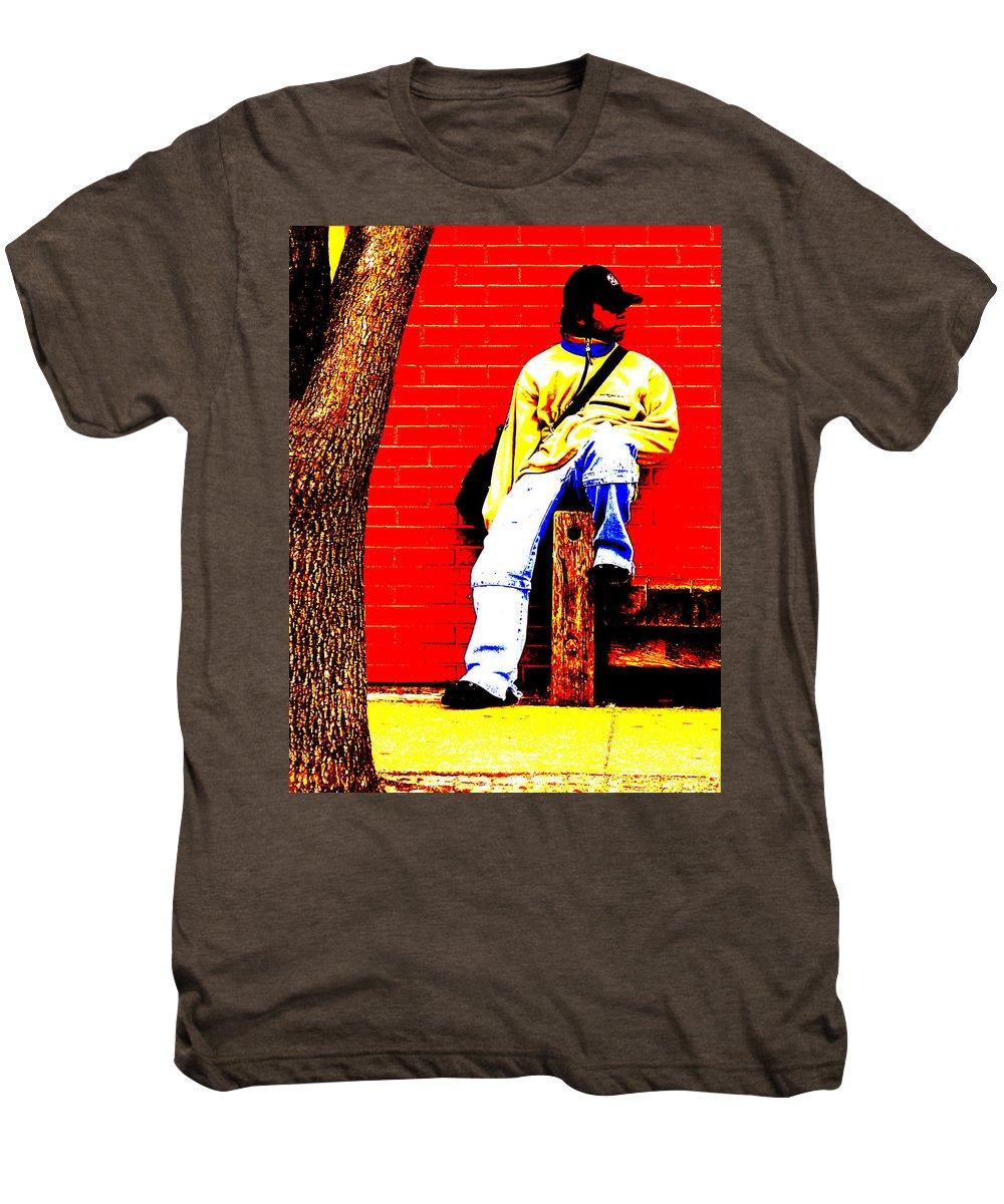 Canvas Men's Premium T-Shirt featuring the photograph Cross Town Run by Albert Stewart